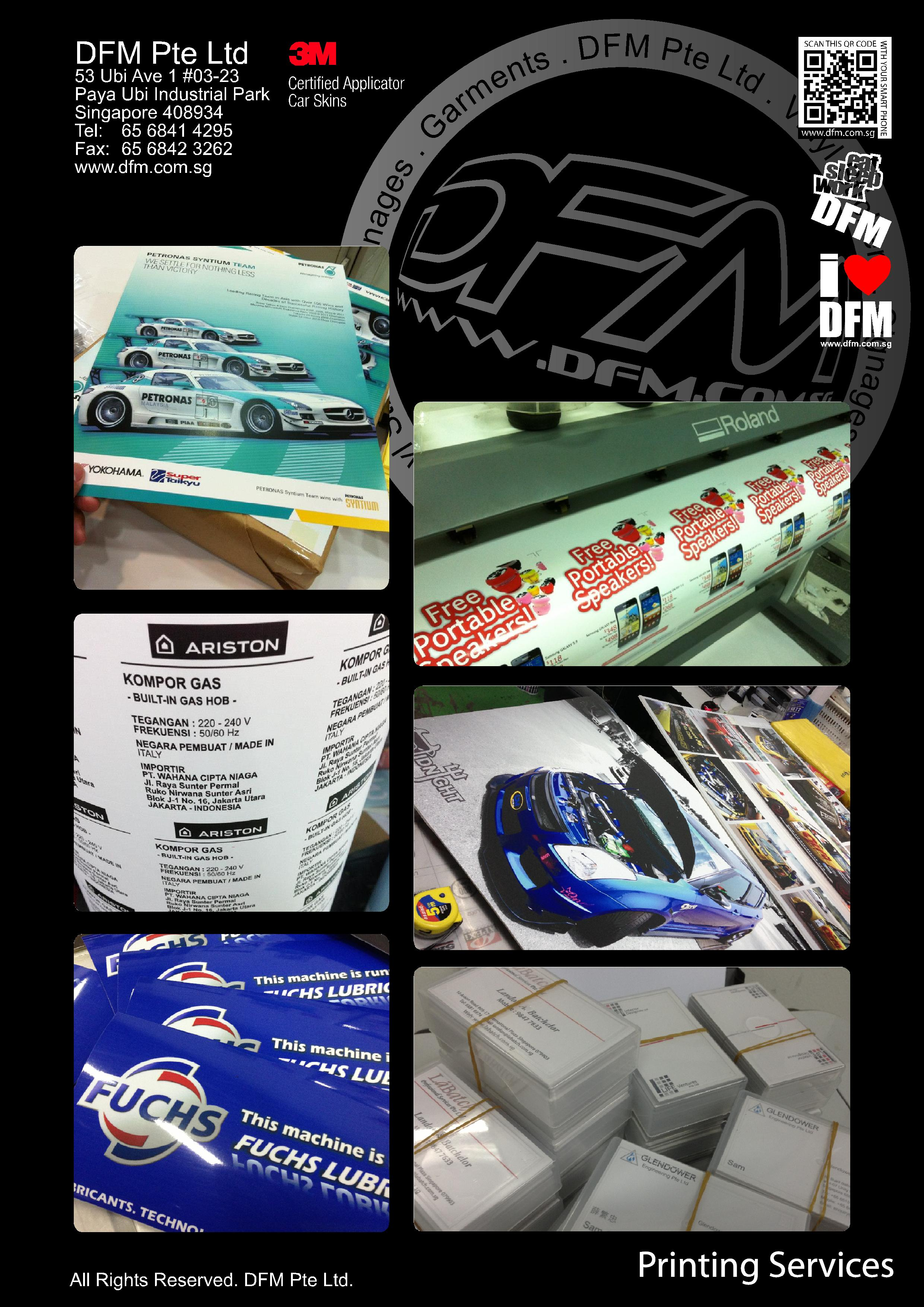 DFM PTE LTD – Passion in Graphics, Large Format Printing & Installations